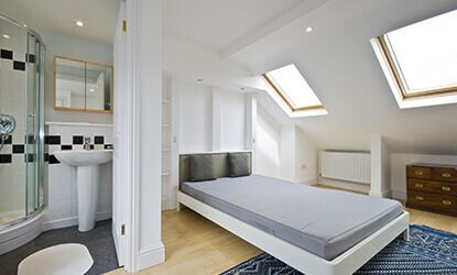 Additional bedroom with loft conversion